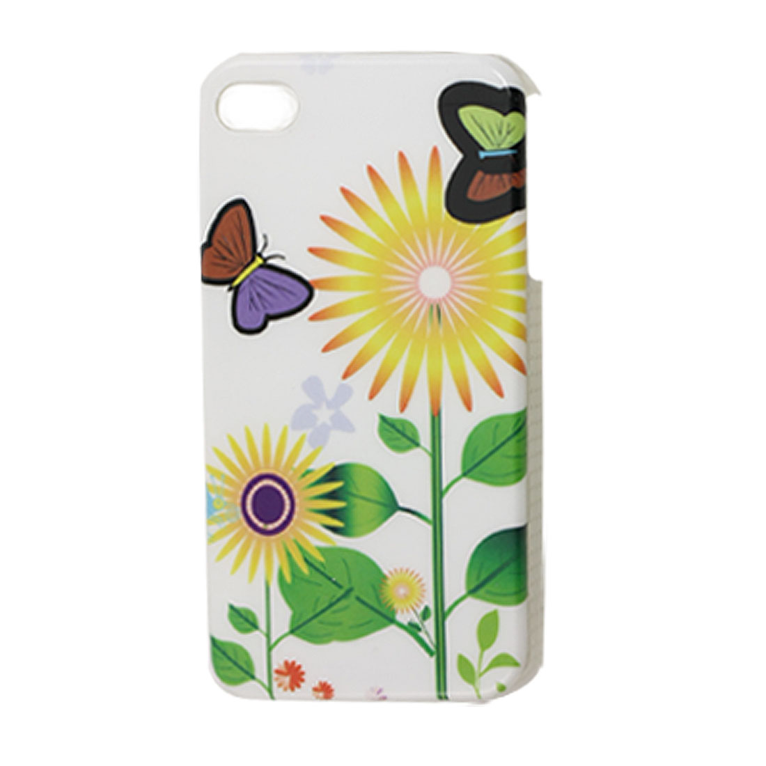 IMD Sunflower Pattern Nonslip Side Back Cover Guard for iPhone 4 4G 4S
