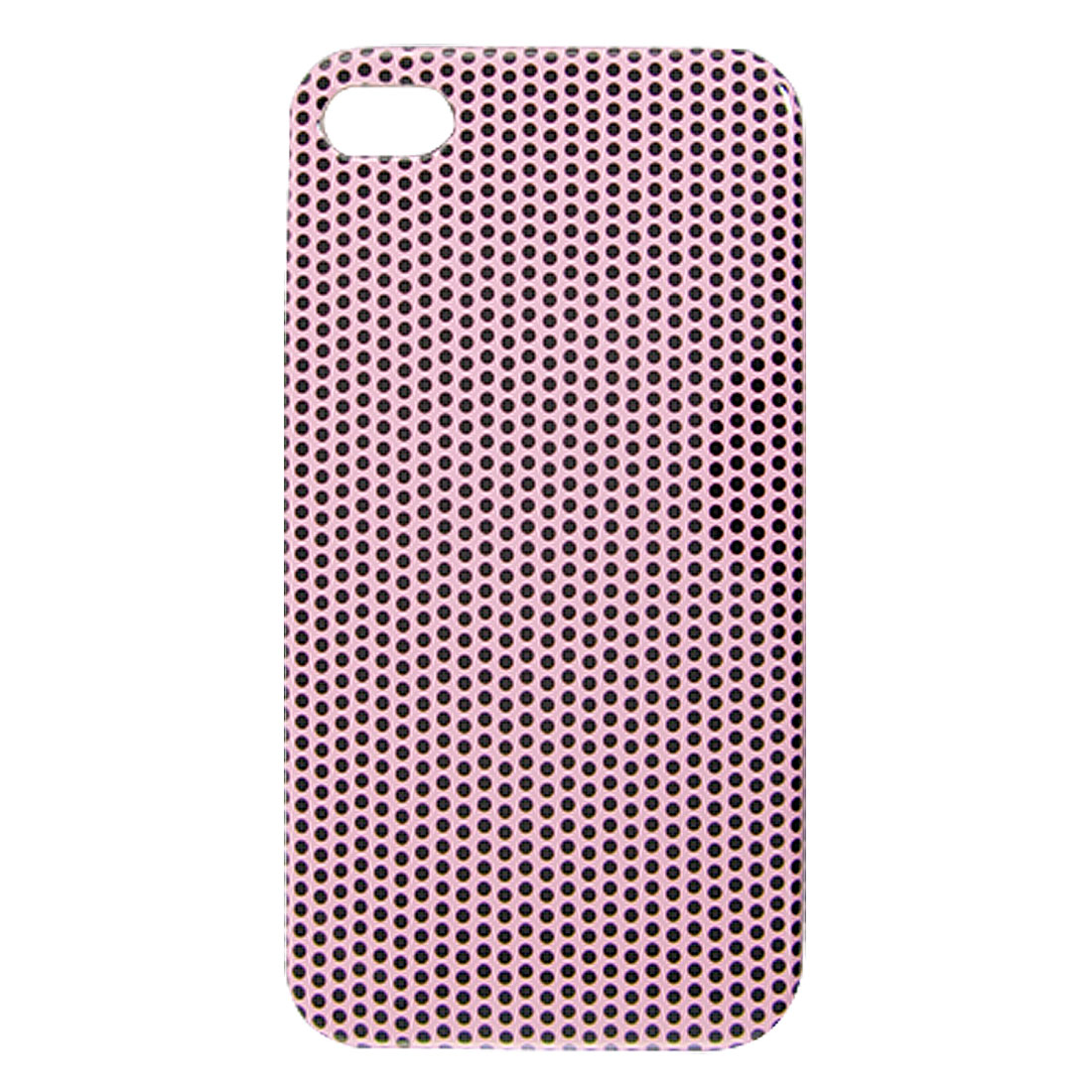 Hard Plastic Black Dots Print IMD Pink Back Shell Case Cover for iPhone 4 4G 4S 4GS