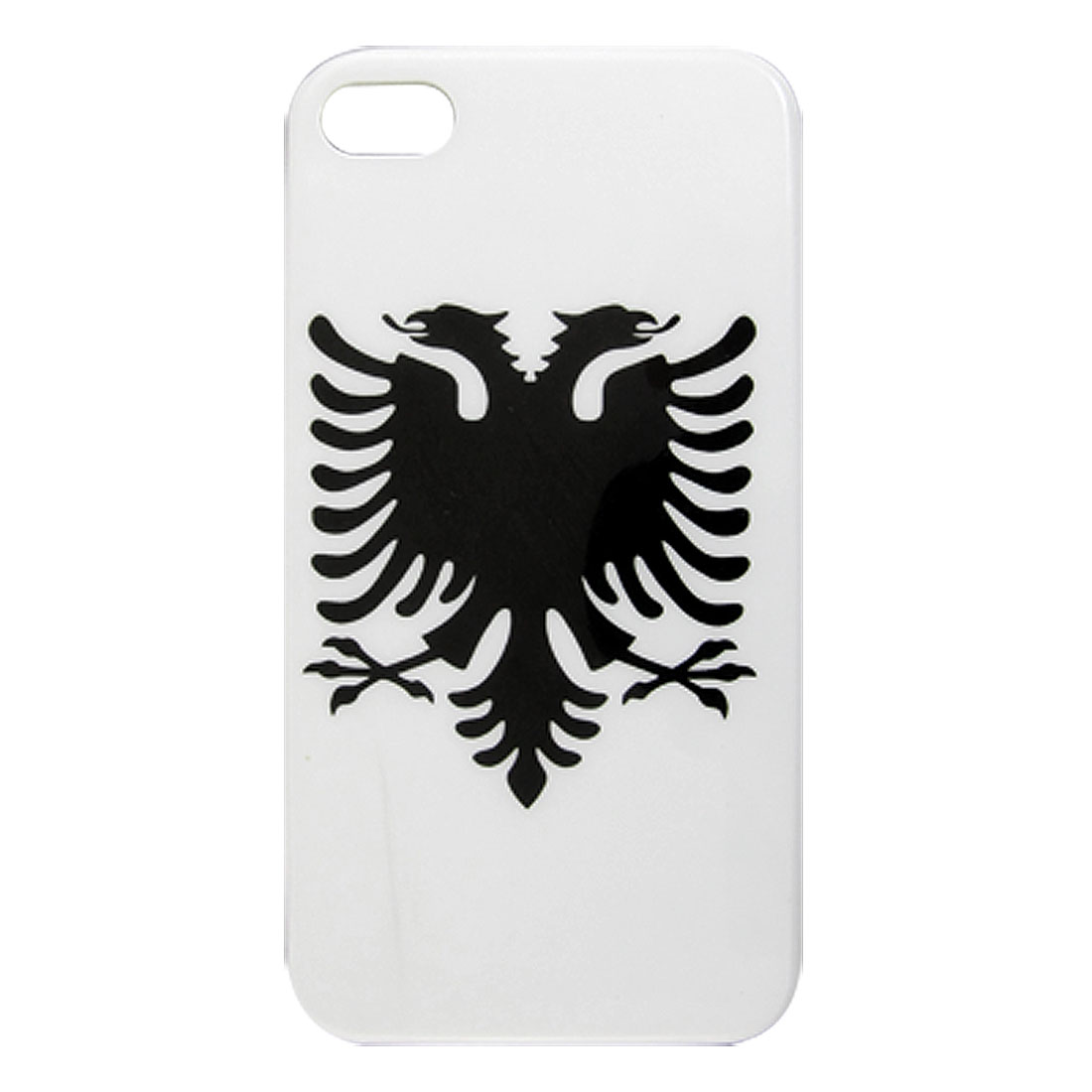 White Black Double Head Bird IMD Hard Back Case Cover for iPhone 4 4S 4G 4GS