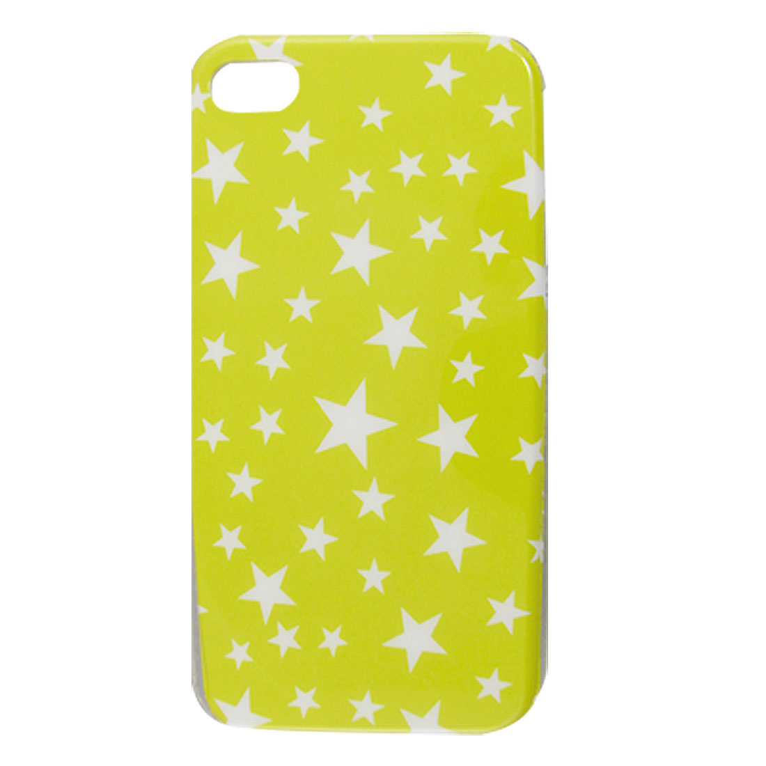IMD Star Pattern Yellow White Hard Plastic Cover for iPhone 4 4G 4S