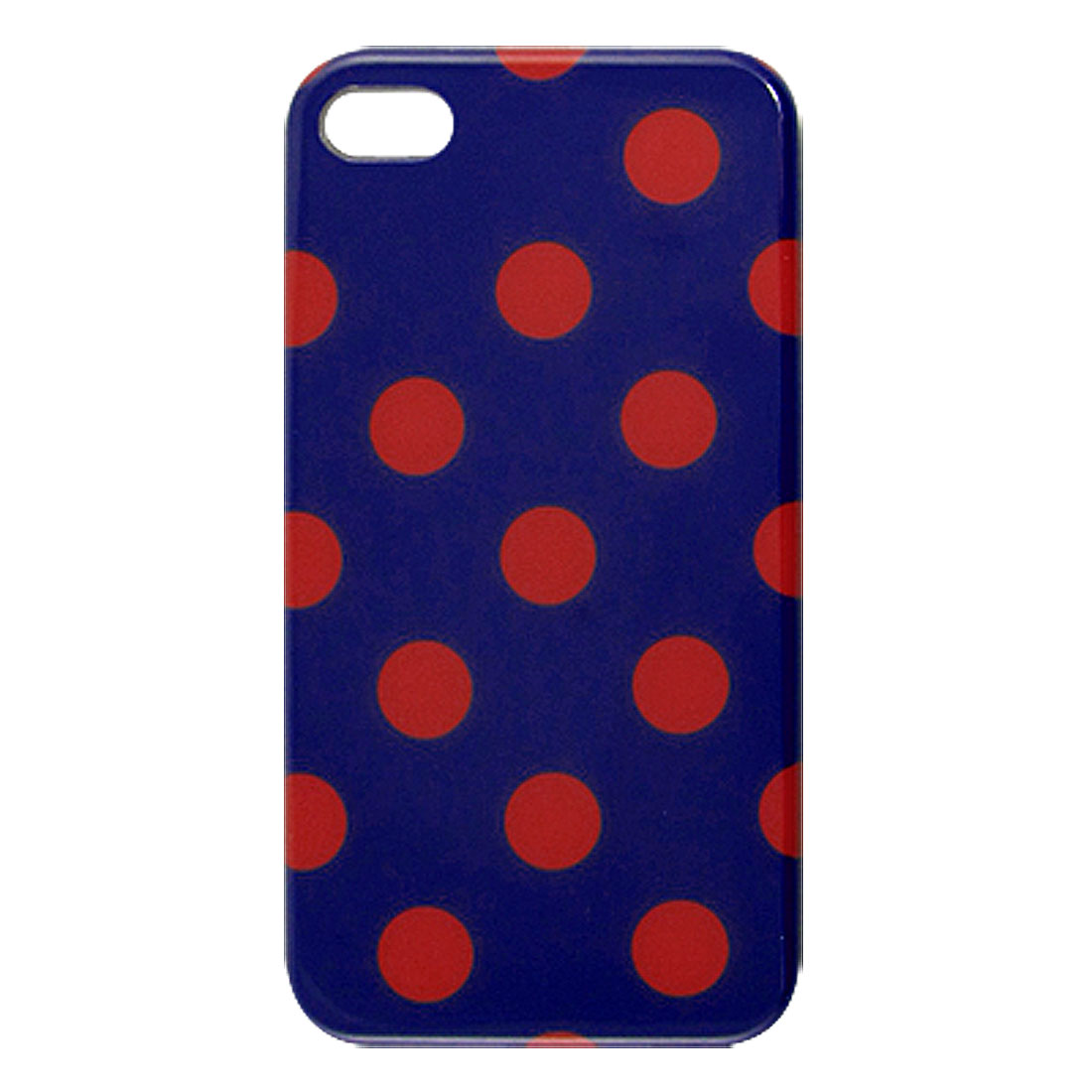 Red Round Circle Dark Blue Hard Plastic IMD Back Case for iPhone 4 4G 4S