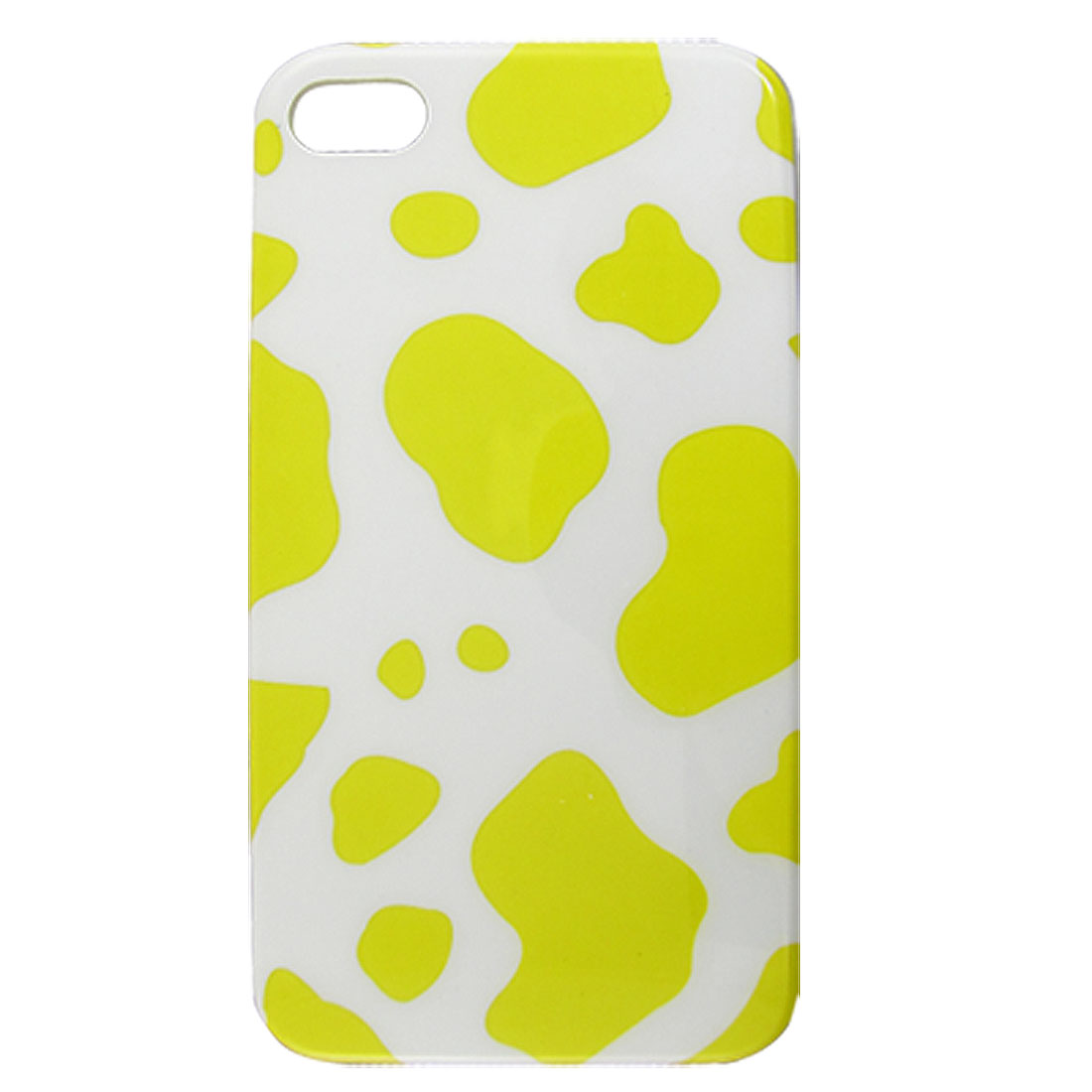 Hard Plastic Yellow White IMD Giraffe Print Cover for iPhone 4 4G 4S