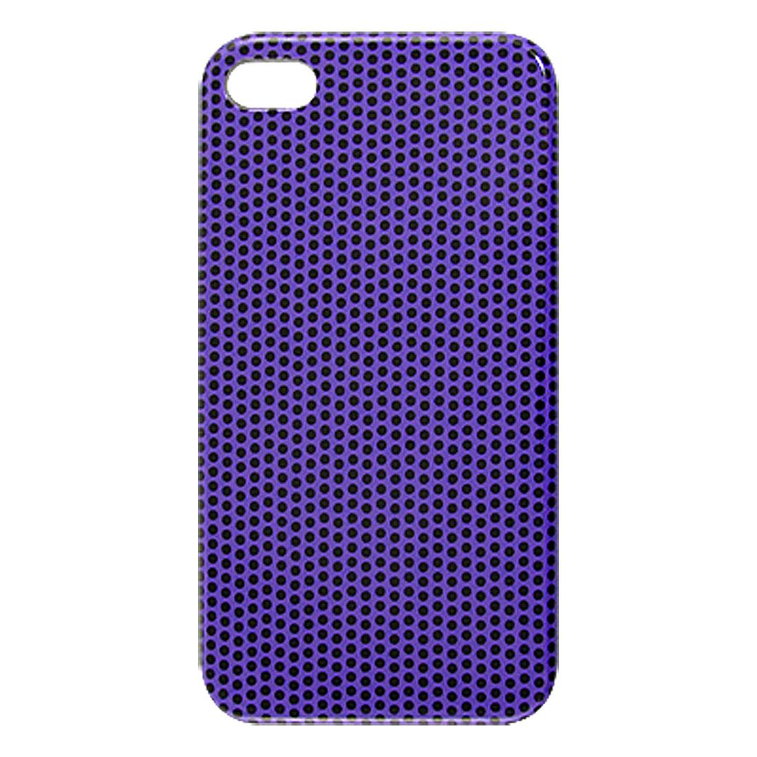 Black Dot Pattern Purple Hard Plastic IMD Back Case for Apple iPhone 4 4G 4S