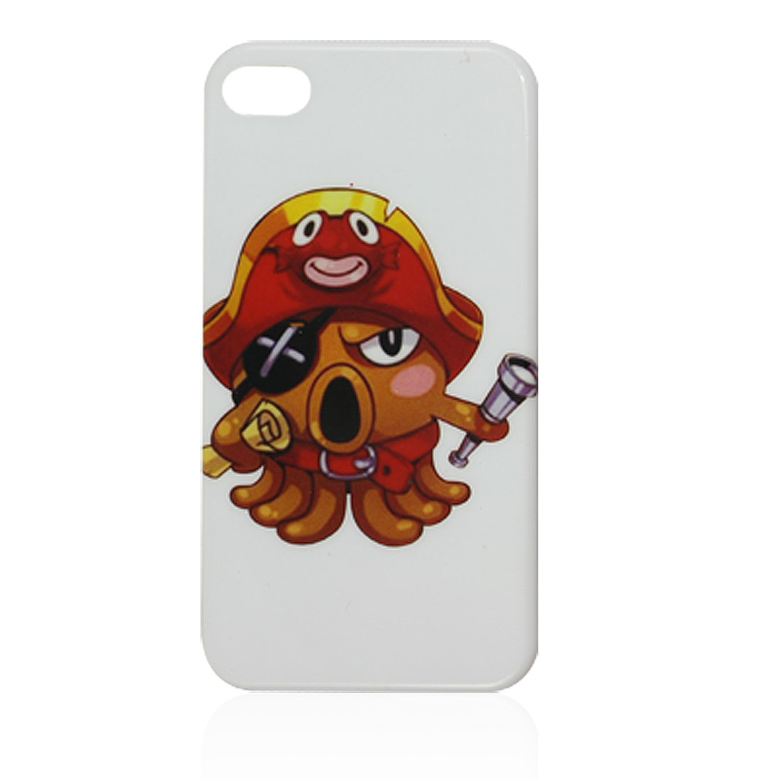 Cartoon Octopus Pattern IMD Hard Plastic Back Case for iPhone 4S 4 4G