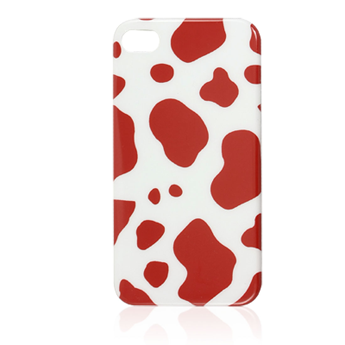 IMD Red Dairy Cow Pattern Plastic Back Shell Cover for iPhone 4 4G 4S