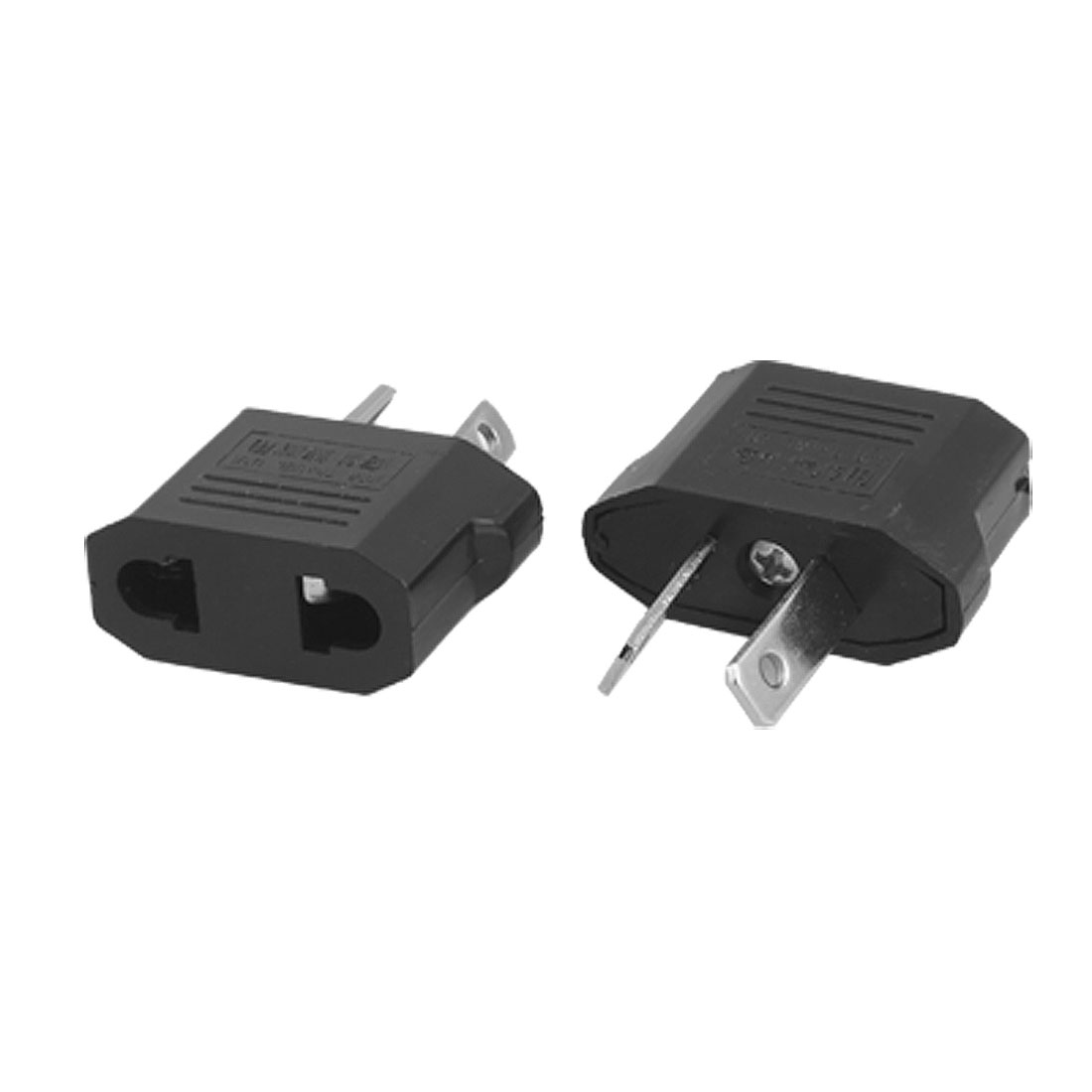 2 Pcs US EU to AU 2 Pin Plug Travel Adapter Converters AC 125V/250V