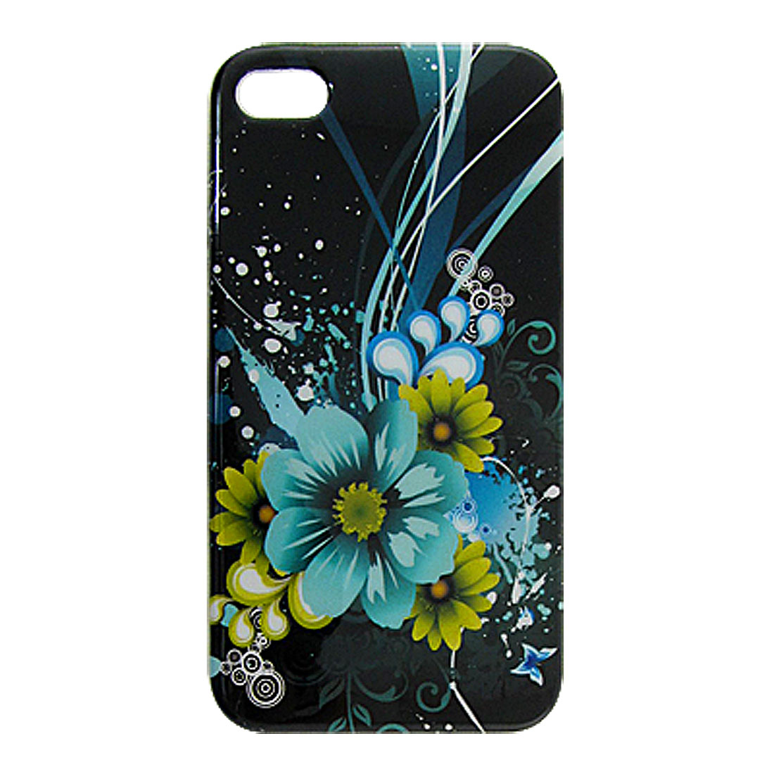 IMD Colorful Flower Pattern Back Case Cover Shell for iPhone 4 4G 4S