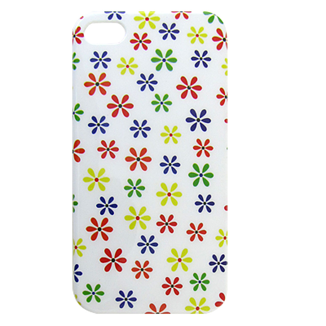 Assorted Color Flower Print IMD Back Case Cover for iPhone 4 4G 4S
