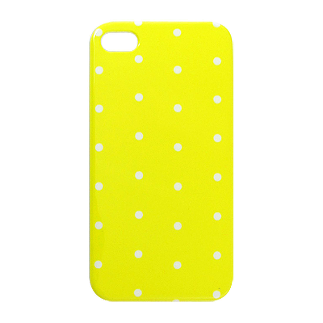 IMD White Dot Pattern Hard Back Case Cover Yellow for iPhone 4 4G 4S