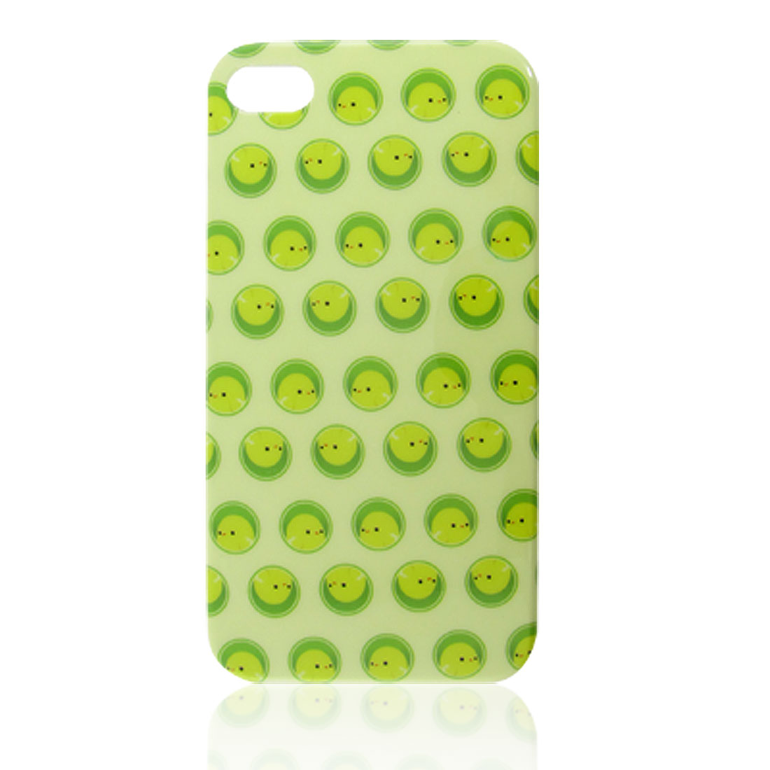 Light Green Little Duck Pattern IMD Back Cover for iPhone 4 4G 4S
