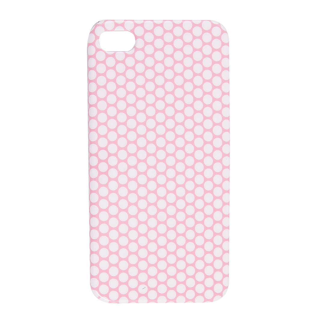 IMD Pink Dotted Prints Hard Plastic Back Shell White for iPhone 4 4G 4S