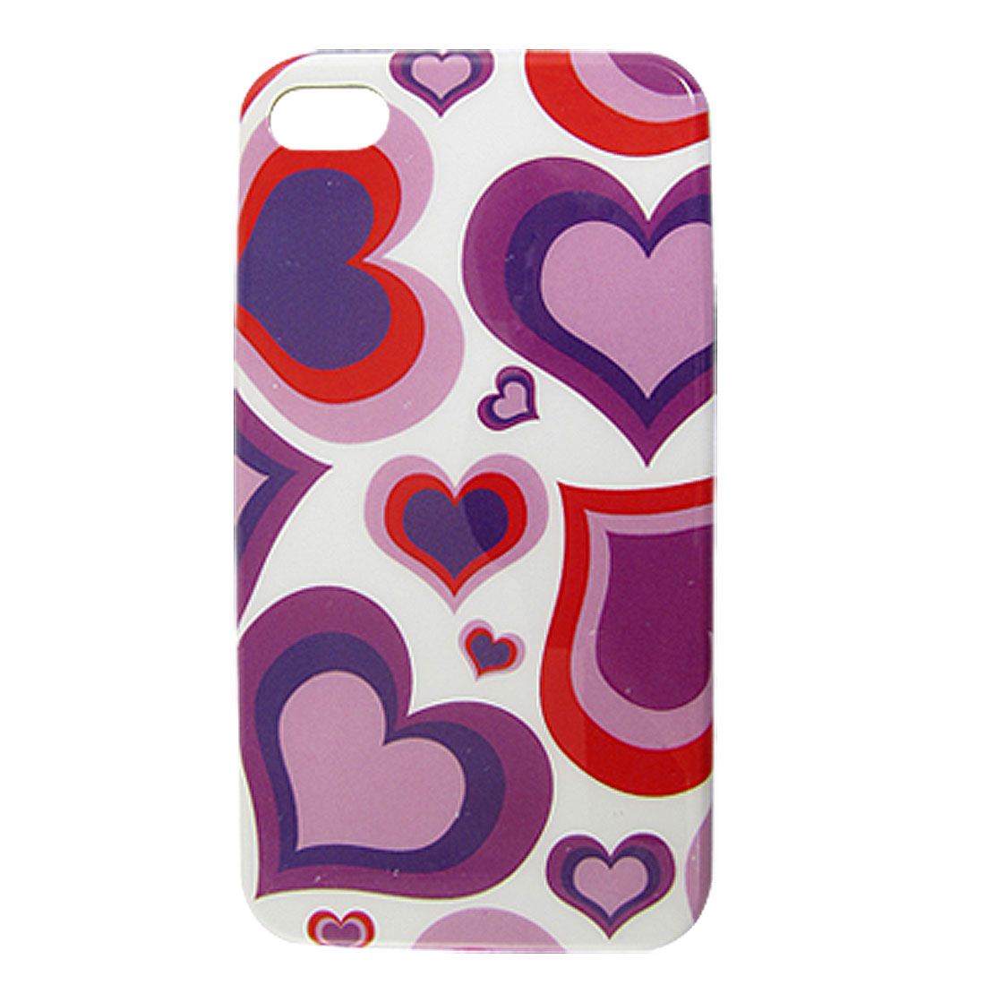 IMD Heart Pattern Hard Plastic Protective Cover for iPhone 4 4G 4S