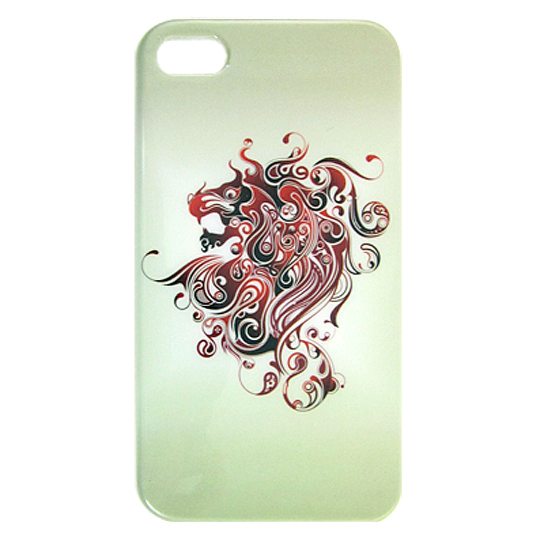 Black Red Dragon Pattern IMD Back Case Cover Shell for iPhone 4 4G 4S