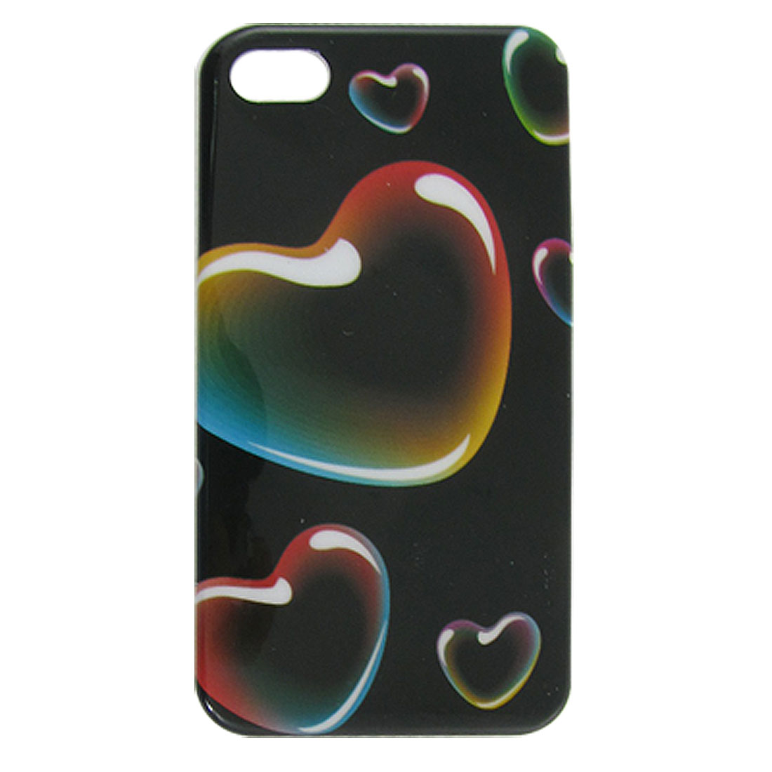 Colorful Heart Pattern IMD Back Case Cover Shell for iPhone 4 4G 4S
