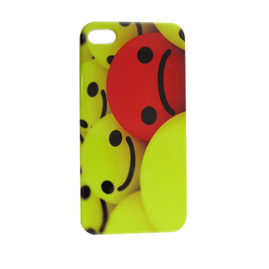 Hard IMD Plastic Green Smile Red Sad Faces Printed Back Cover for iPhone 4 4G 4S 4GS 4S