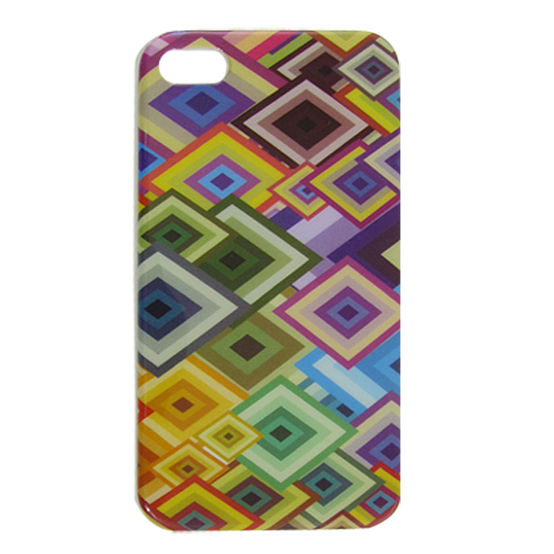Colorful Argyle Pattern IMD Hard Back Case Cover for iPhone 4 4G 4S