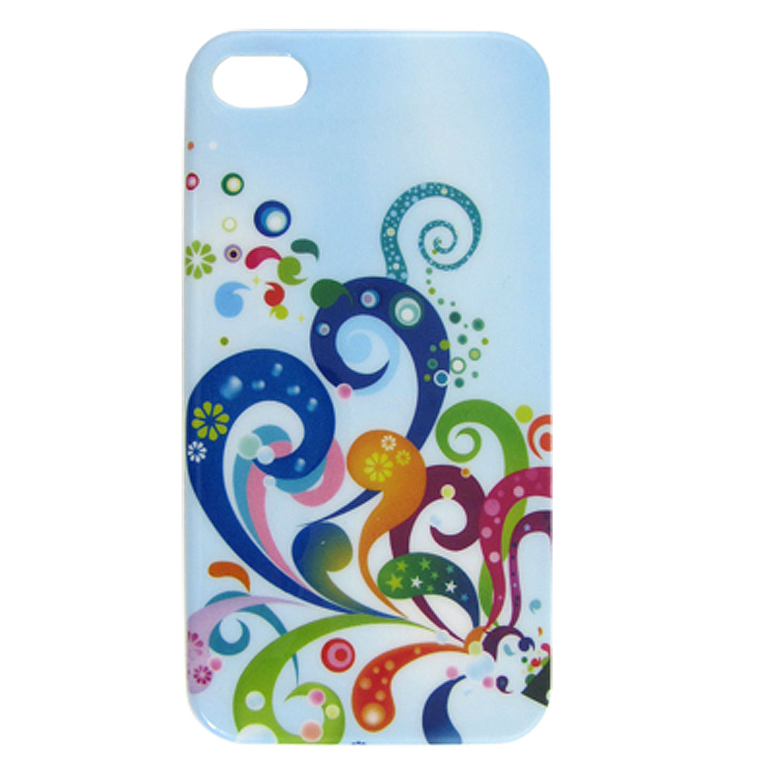 Protective Colorful Ribbon Pattern IMD Back Case Cover for iPhone 4 4G 4S