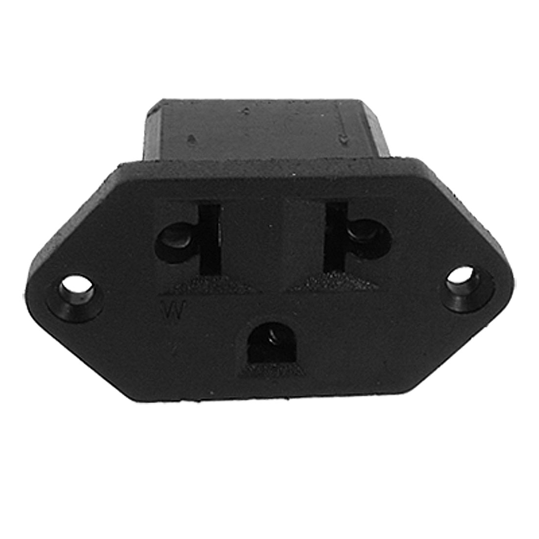AC 250V 10A 3 Terminals Screw Type US EU Power Socket Connector Black