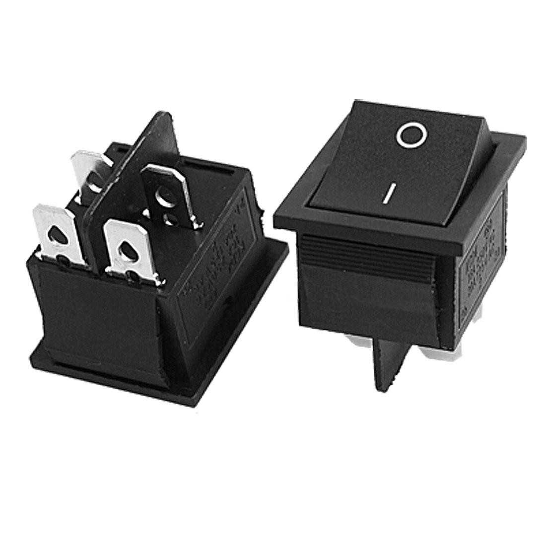 2 x AC 16A/250V 20A/125V 4 Pin ON-OFF 2 Position DPST Snap in Boat Rocker Switch
