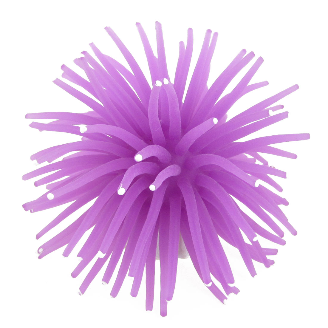"Aquarium Fish Tank 3"" Diameter Aquascaping Silicone Sea Urchin Purple"