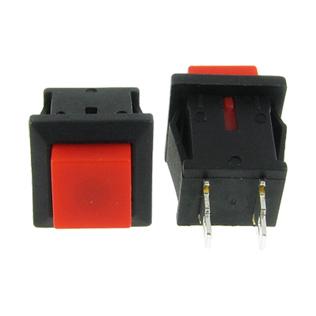 20 Pcs Red Momentary Square Push Button Switch N/O SPST AC 125V/1A