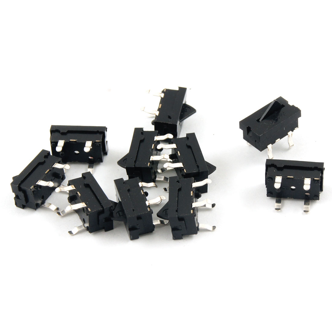 10 Pcs 4 Terminals DC 5V 0.1-1mA SPST NO Momentary Mini VCD DVD Assist Switch