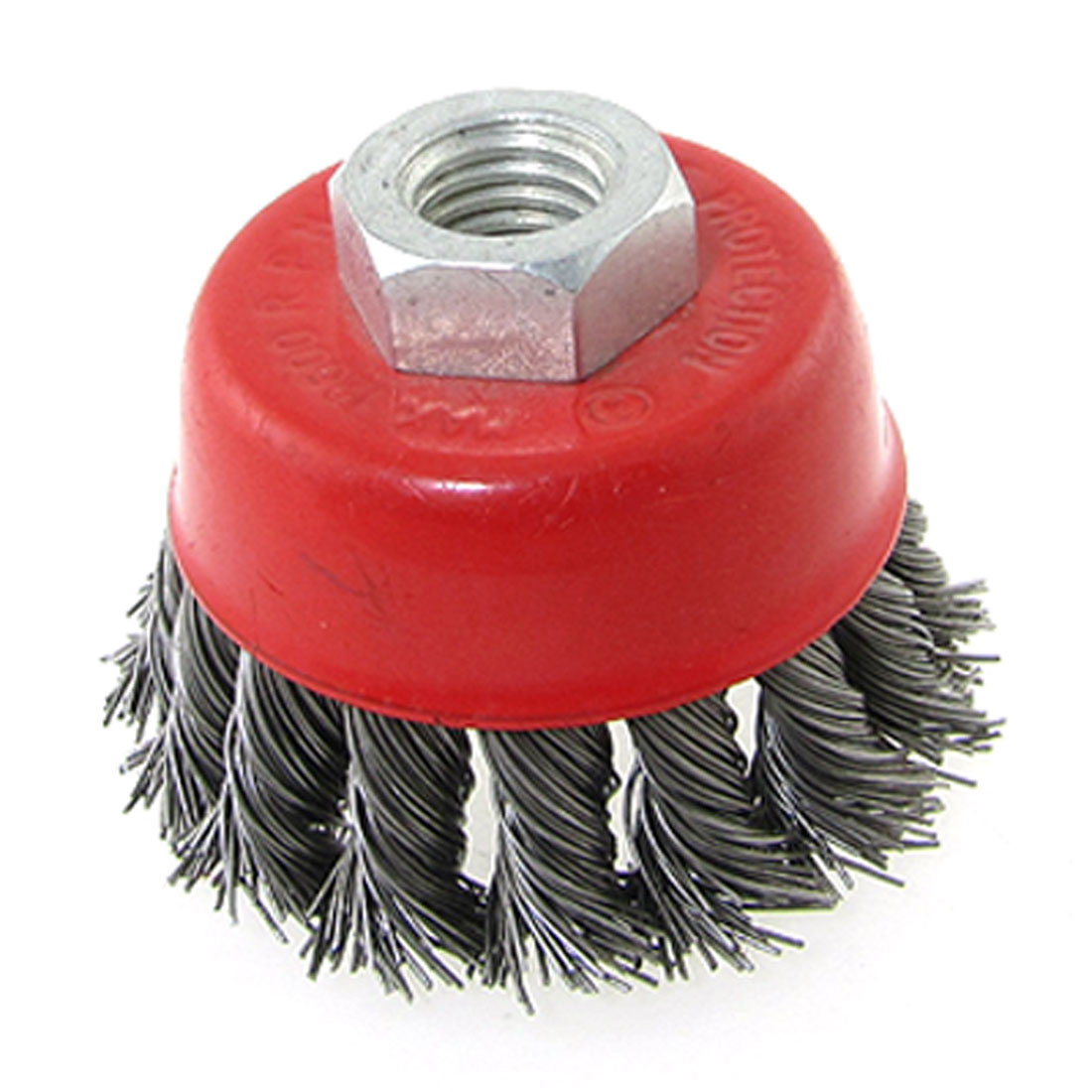 Red Twist Knot Wire Cup Thread Brush 15mm Inner Diameter