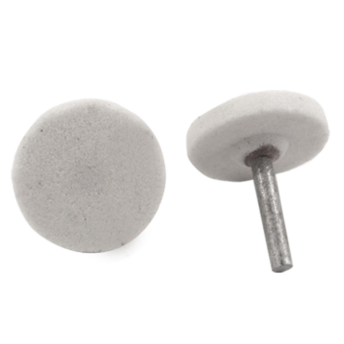 5 Pcs White Ceramic Stone Grinding Wheel Head Metal Shank Mounted Point