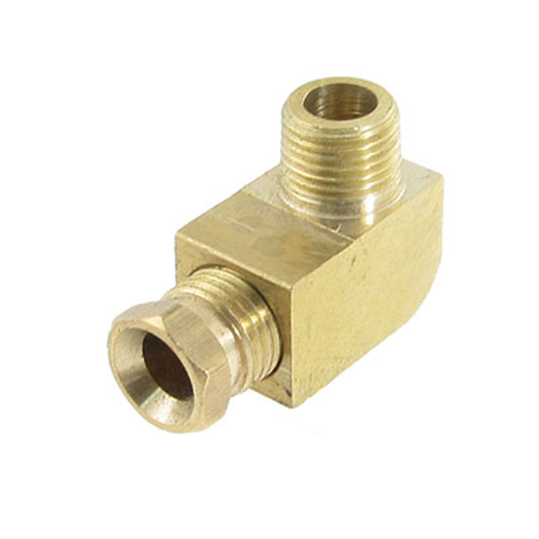 "15/64"" Brass Ferrule Compression End 3/8"" Male Thread Elbow Connector"
