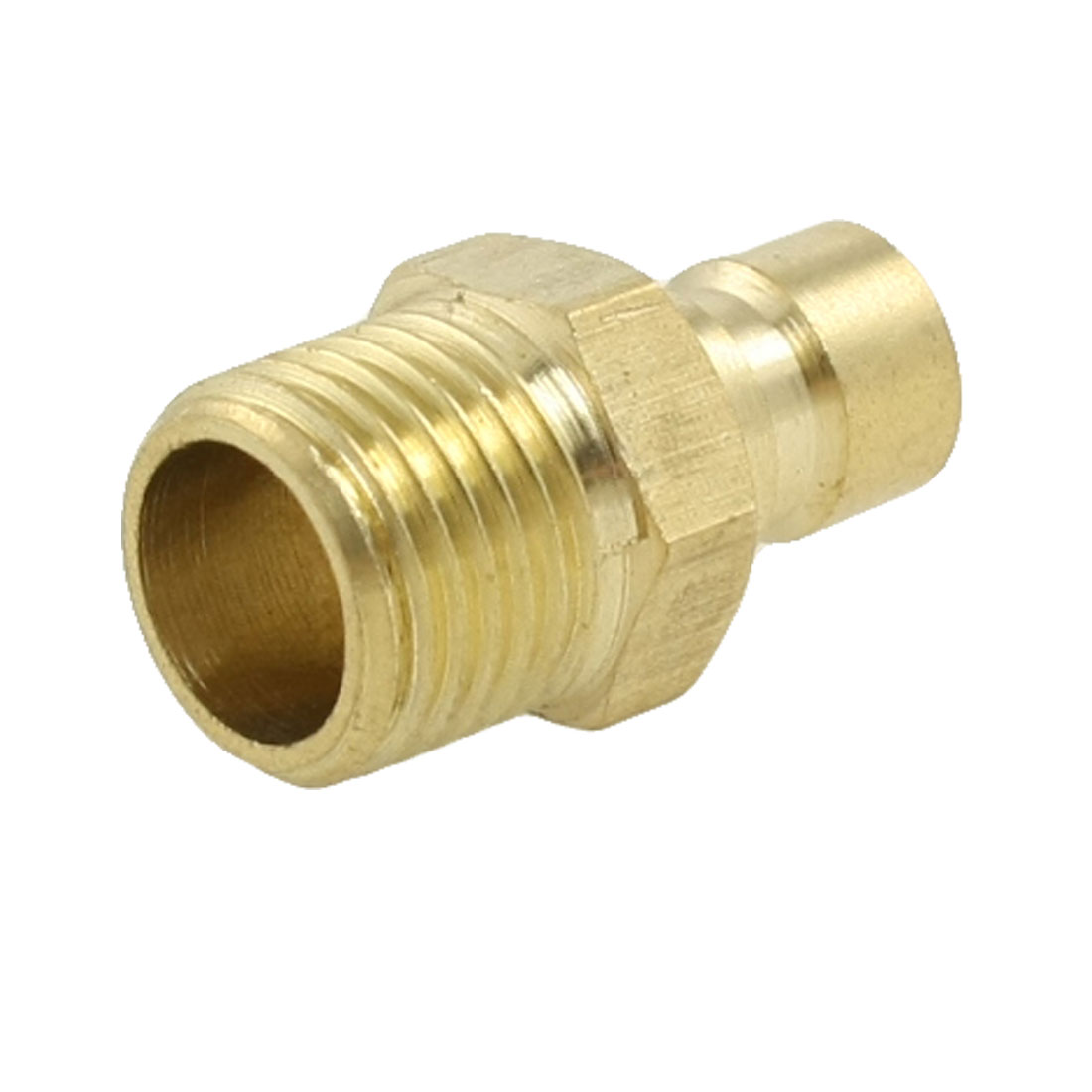 "Brass 13mm 33/64"" Dia Fine Thread Mold Quick Coupler Male Nipple"
