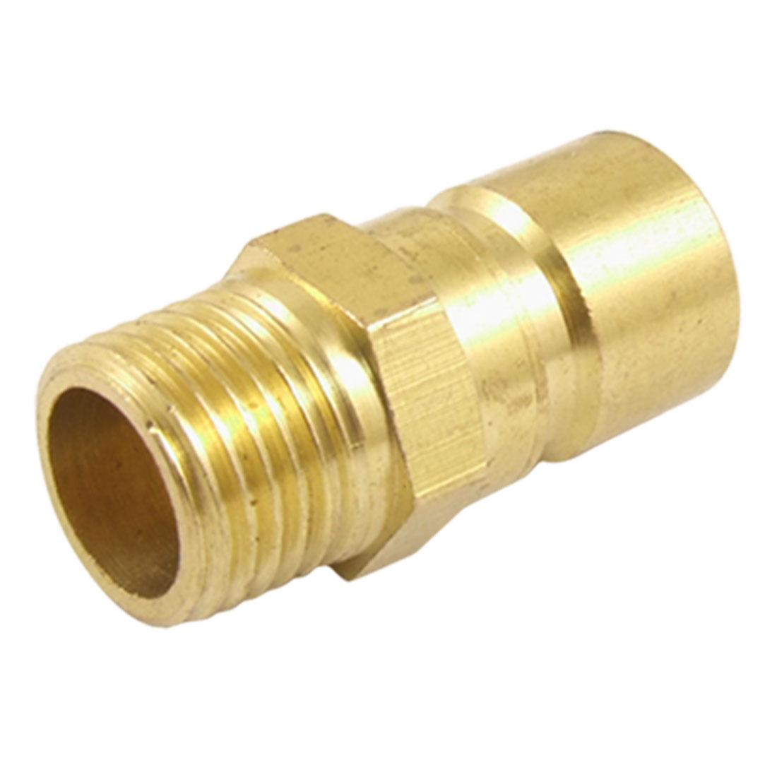 "Brass Pipe Fitting Quick Disconnect Coupler Male Plug Mold Coupling 33/64"" Fine Thread"