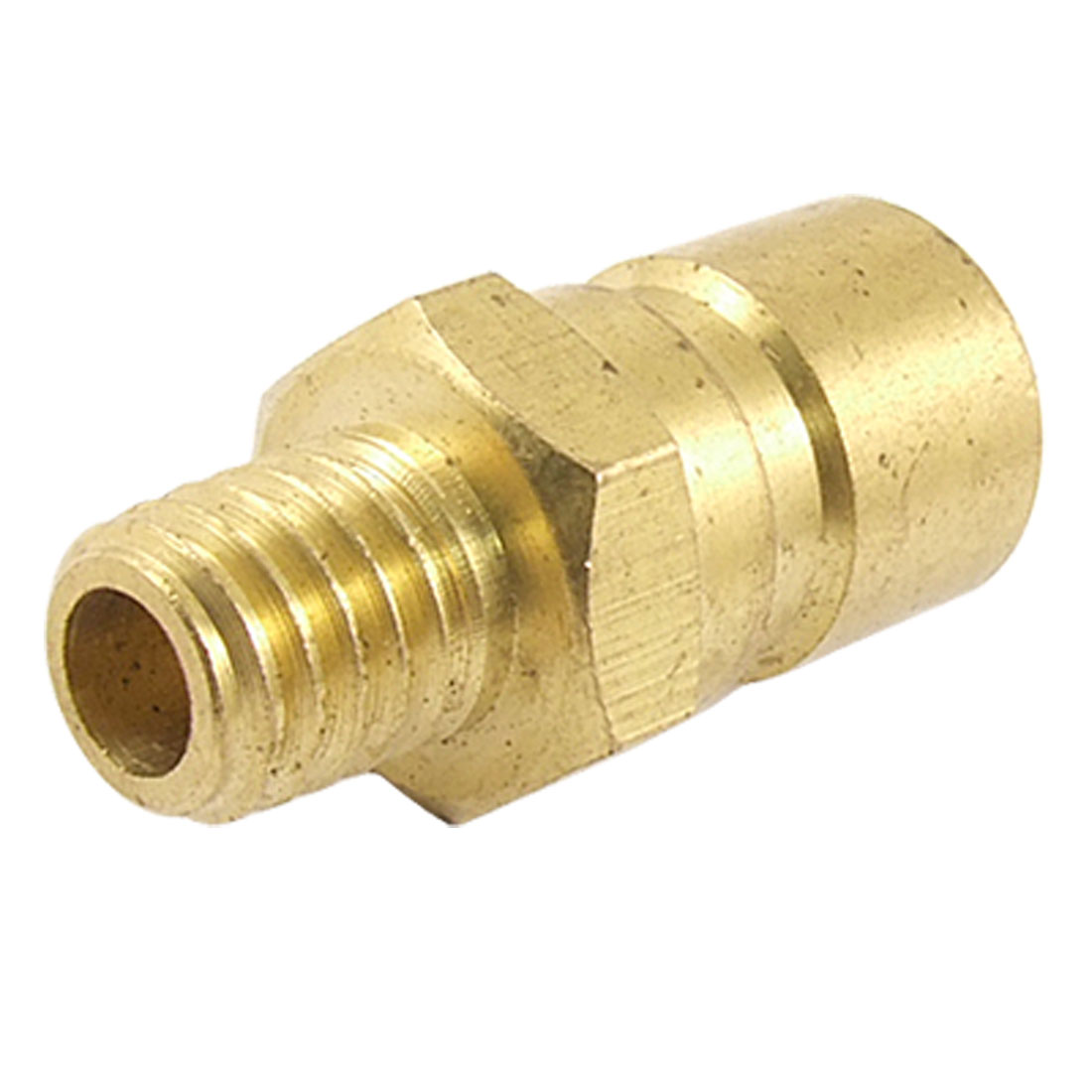 "1 1/5"" Brass Straight Mold Coupler Quick Coupling Male Nipple 9/25"" Coarse Thread"