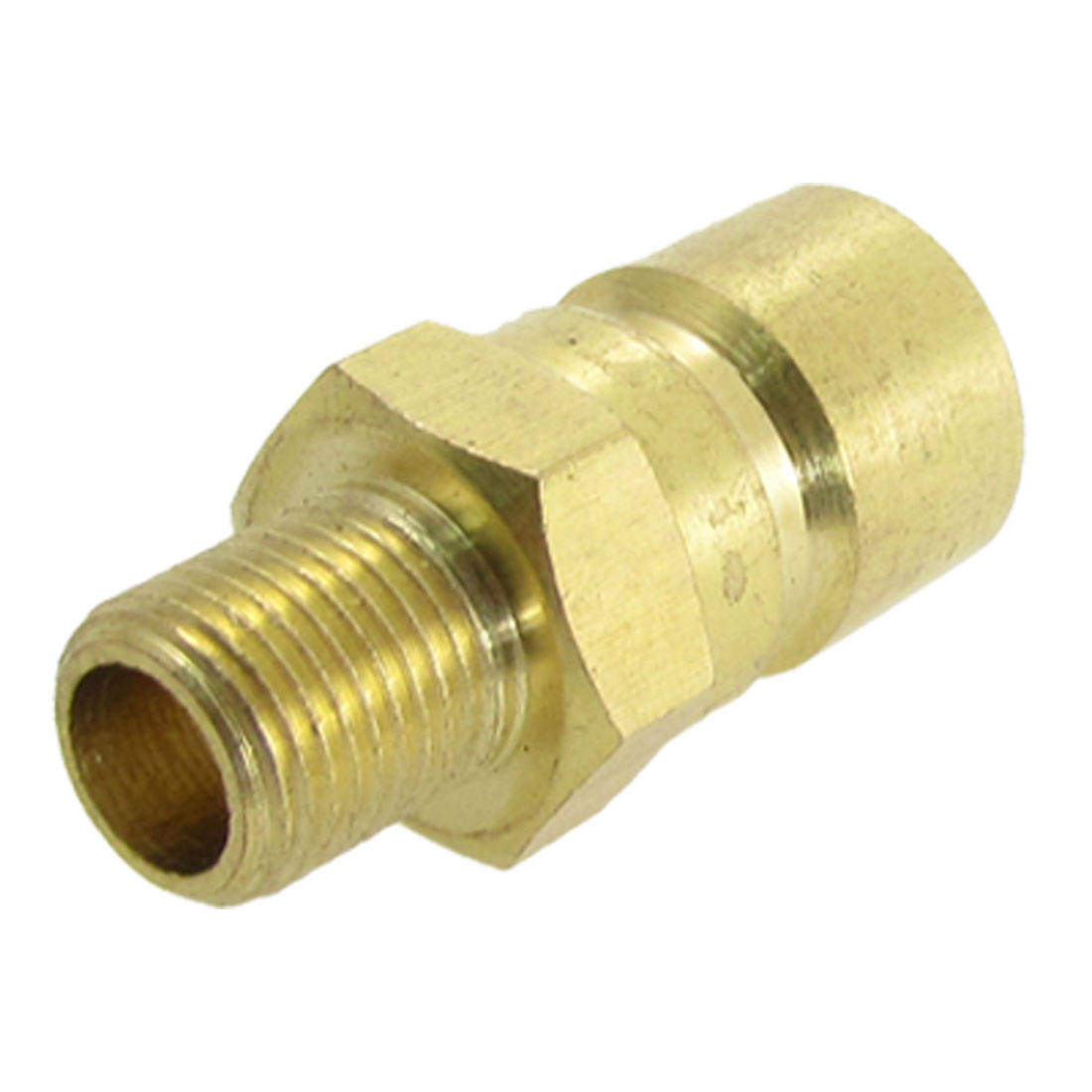9mm Dia Male Fine Thread Mould Brass Pipe Nipple Fitting Gold Tone