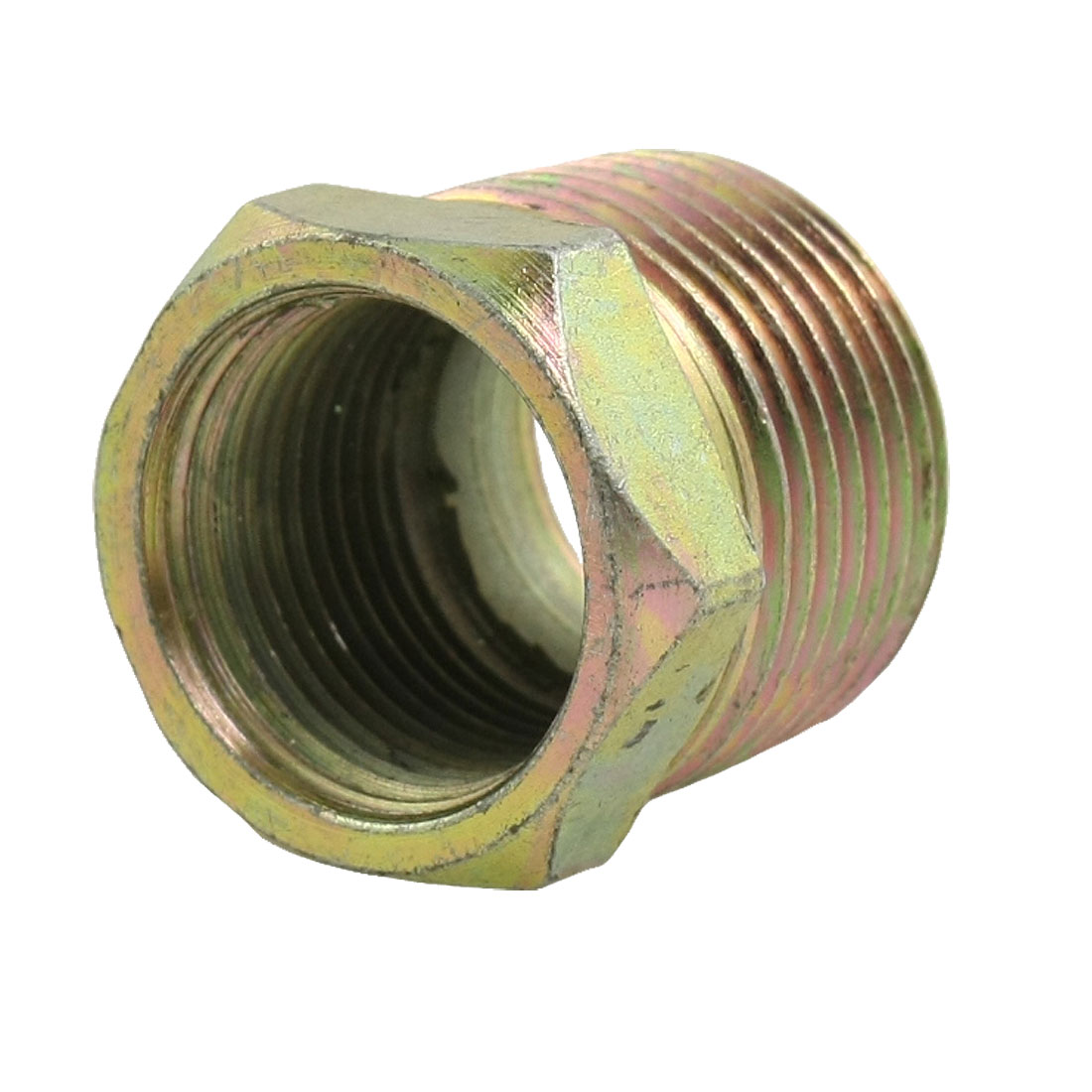 "Metal 1 3/10"" x 31/32"" Hex Bush Reducer Plumbing Fitting Adapter"