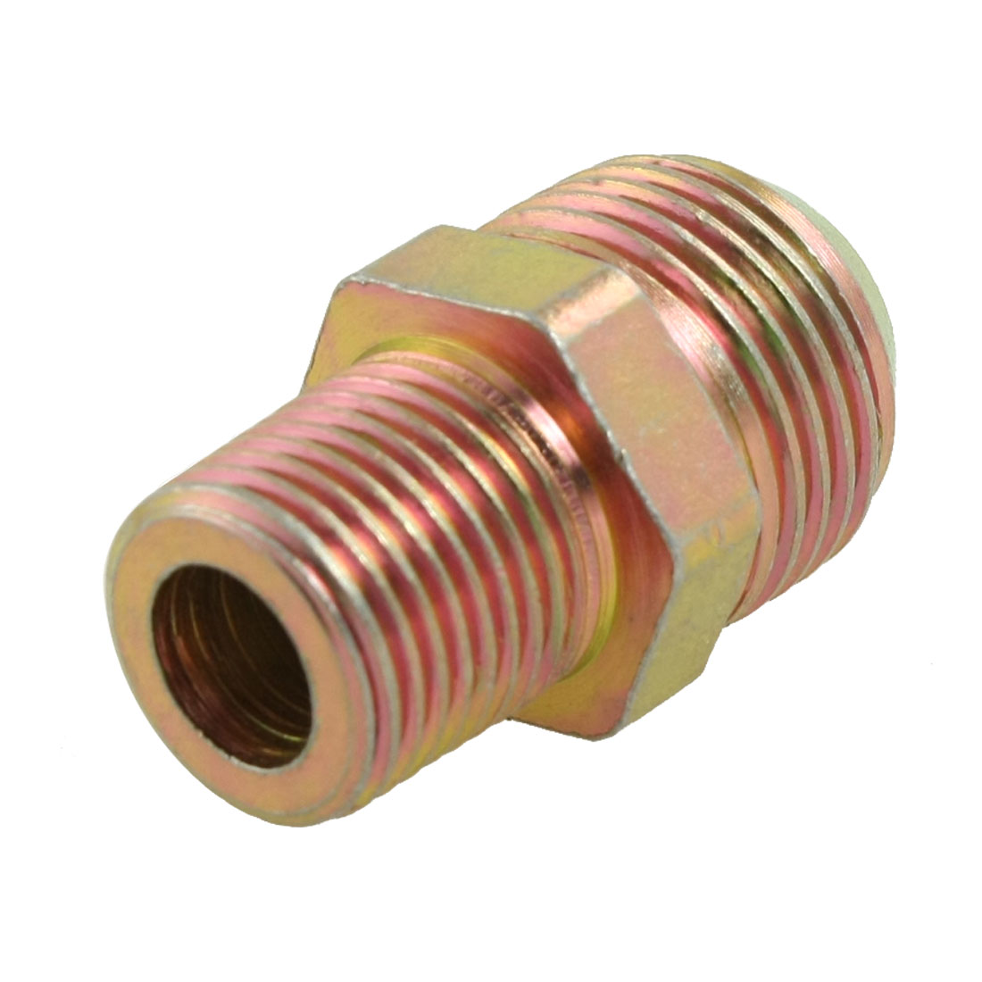 "3/4"" NPT x 1/2"" PT Male Flare Hex Nipple Reducer Fitting Connector"