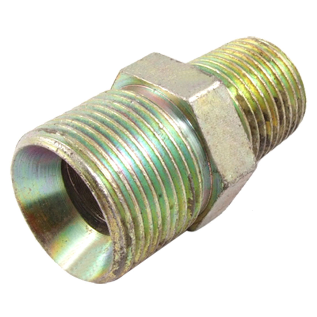 "3/4"" NPT to 1/2"" PT Inverted Flare Straight Male Connector Fuel Line Fitting"