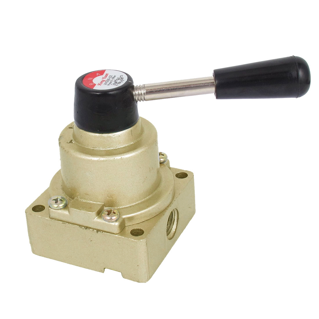 HV-02 Air Flow Control 3 Positions 4 Ways Pneumatic Hand Lever Valve