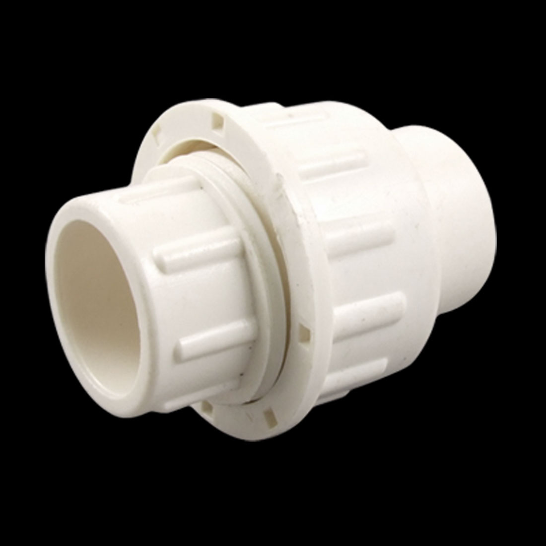 20mm Hole Dia. White PVC Plastic Water Pipe Adapter