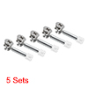 "5 Sets Furniture Side Connecting Cam Fitting 0.56"" OD + Dowel + Pre-inserted Nut"