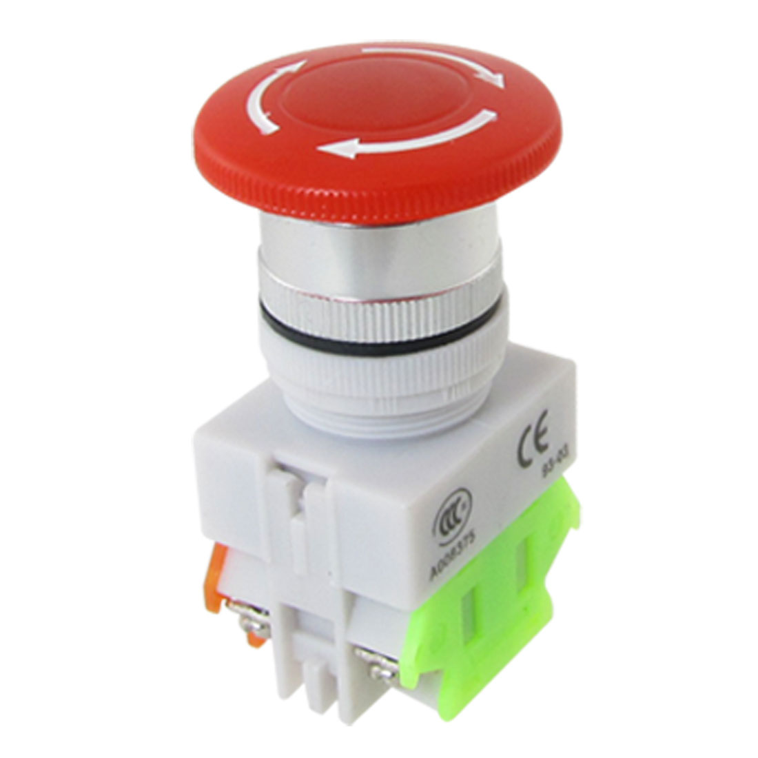 Red Mushroom Cap 1NO 1NC Emergency Stop Push Button Switch 600V 10A