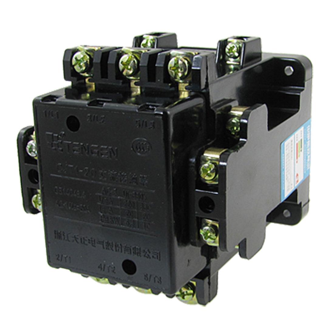 Motor Control AC Contactor 20A Ie 380V Coil 3 Poles 2NO+2NC CJT1-20