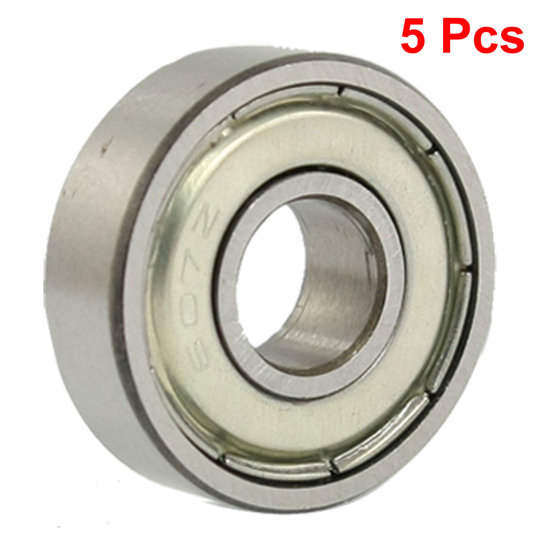 607Z 7 x 19 x 6mm Double Shielded Deep Groove Ball Bearings 5 Pcs