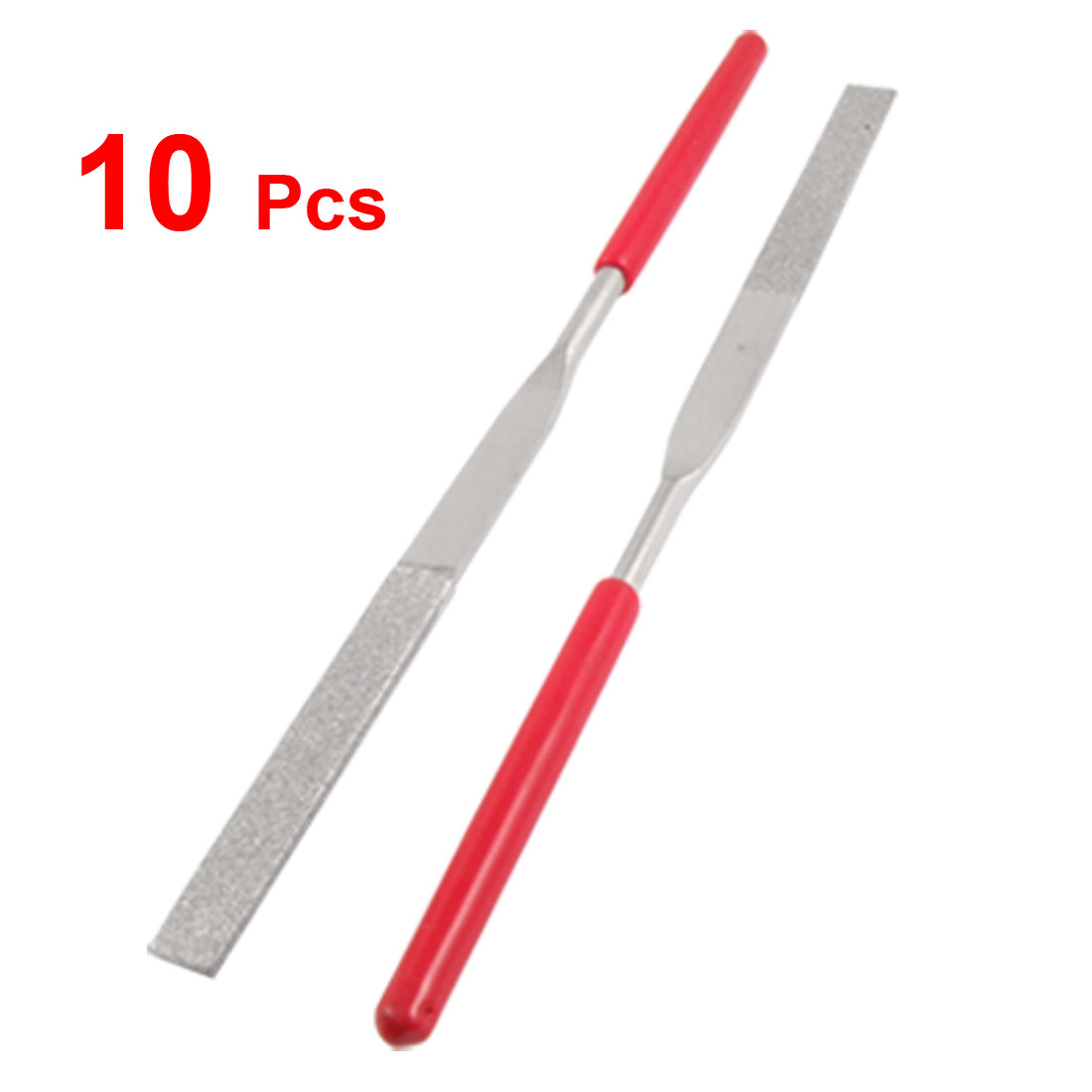 10 Pcs 4mm x 160mm Stone Glass Metal Flat Diamond Needle Files