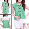 Mint Sleeveless Button Down Blouse Top XS for Women