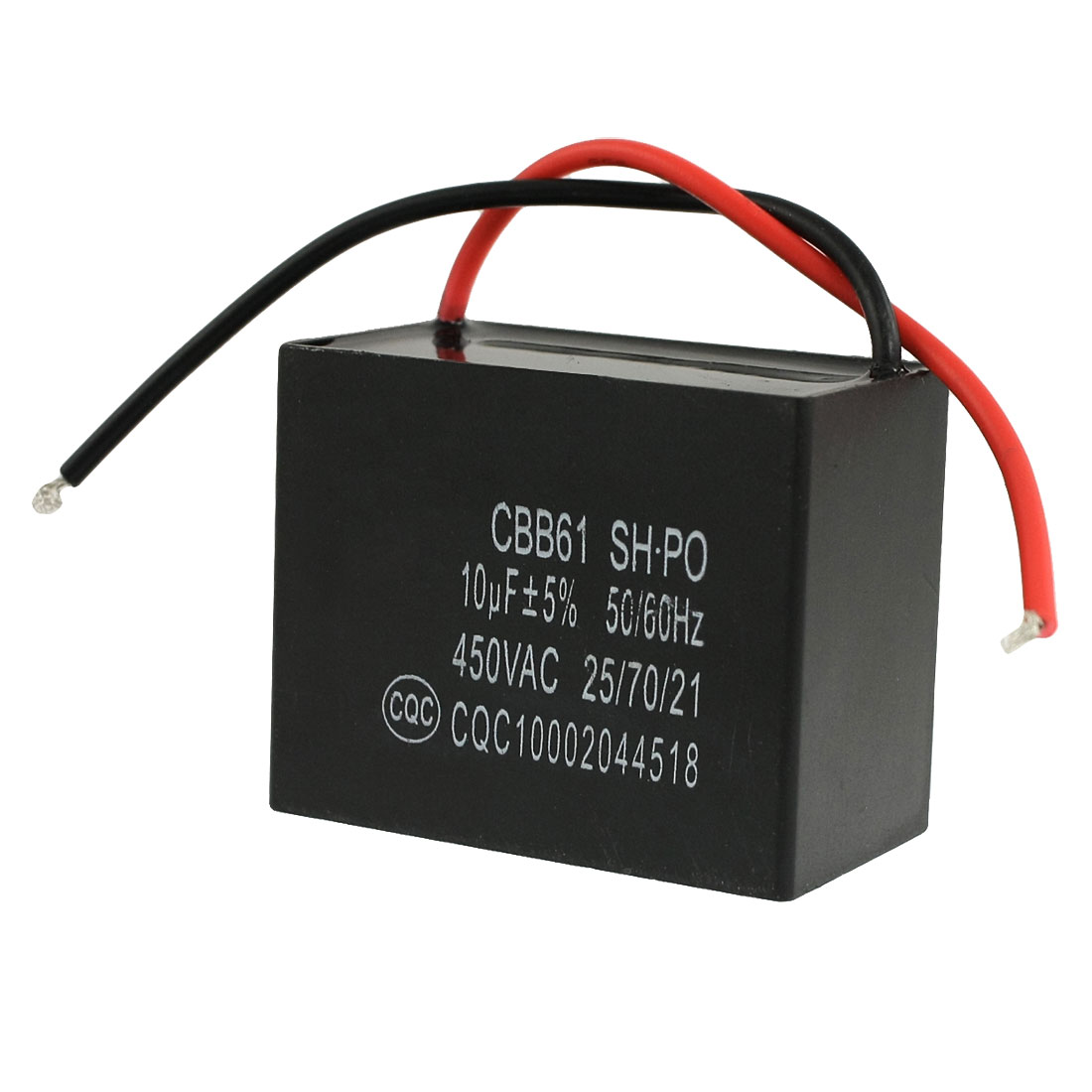 450VAC 10uF 50/60Hz Fan Motor Running Capacitor CBB61