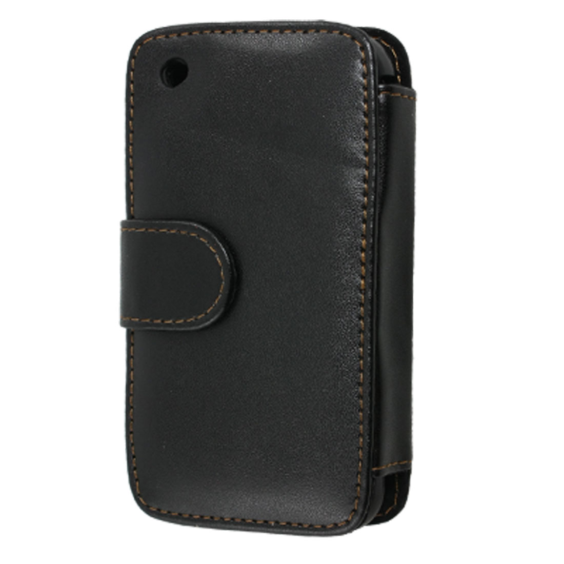 Protective Black Faux Leather Pouch Holder for iPhone 3G