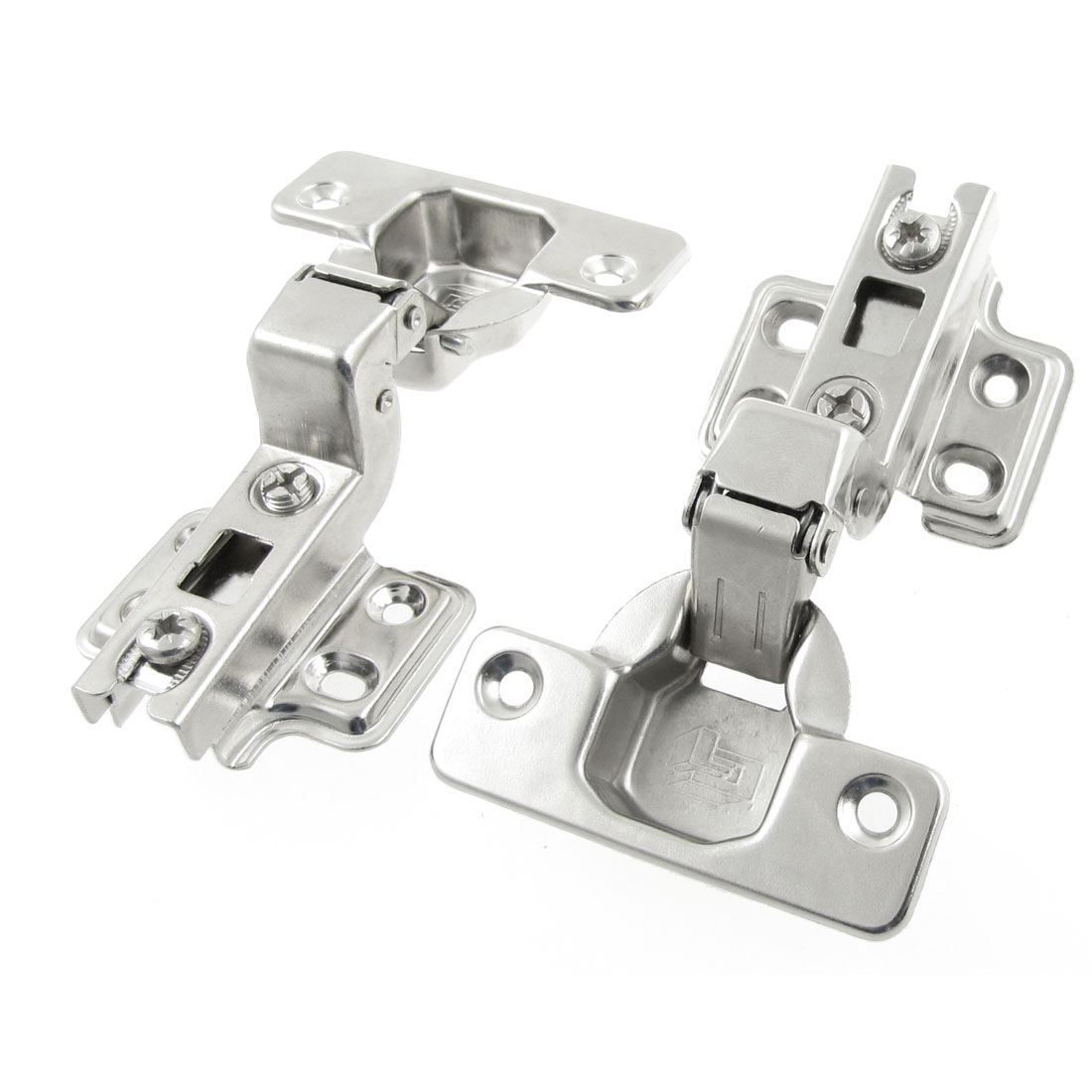 Furniture Hardware Buffer Metal Concealed Cabinet Hinge 2 Pcs
