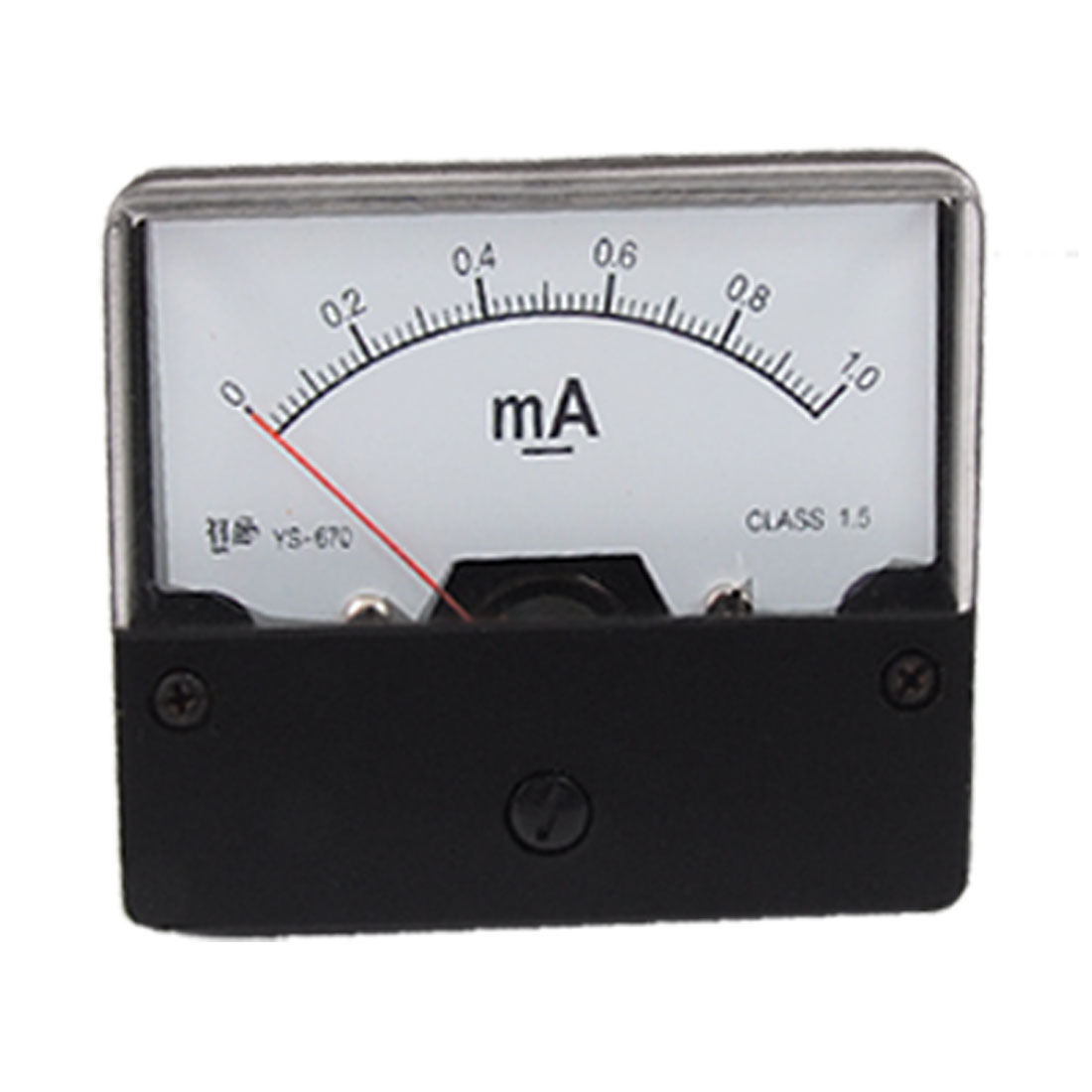 YS-670 Panel Mounted DC 0-1mA Current Meter Amperemeter Measuring Tool