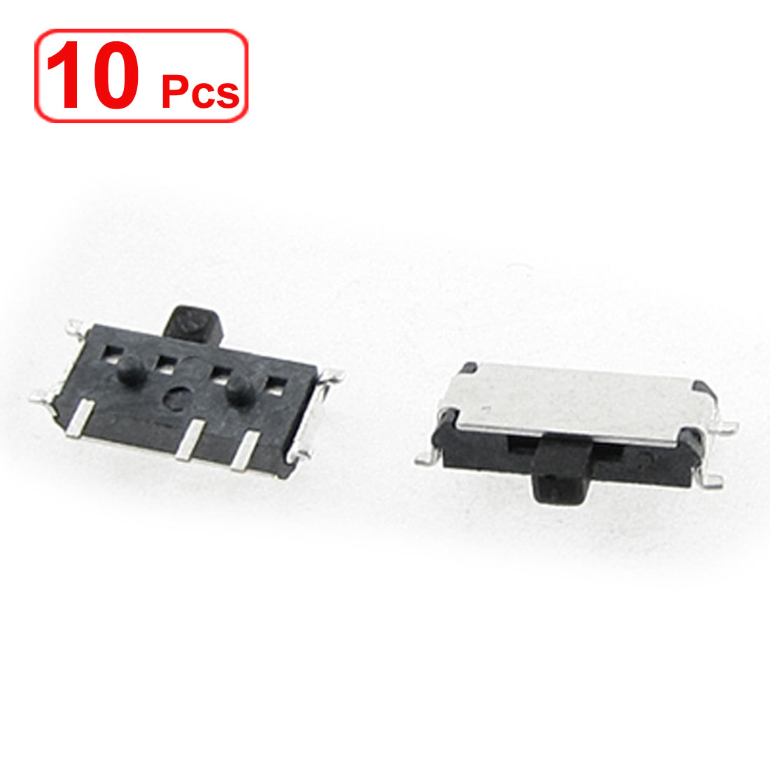 10 PCS DC 50V 0.3A 7 Pin On/On 2 Position 1P2T SPDT SMD Slide Switch Side Knob