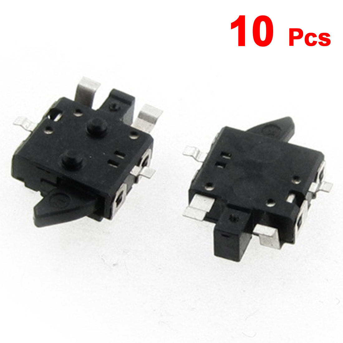10 Pcs Two Way Operation SMD Momentary Detector Switch Black